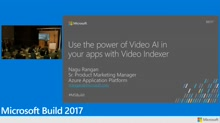 Use the power of Video AI in your apps with Video Indexer