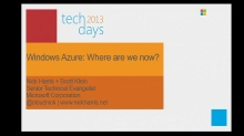 Windows Azure: where are we today?