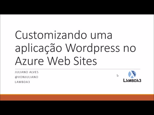 Customizando o Wordpress e realizando deploy no Azure