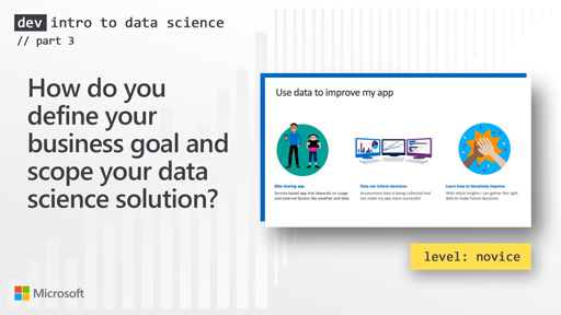 How do you define your business goal and scope your data science solution? (3 of 28)