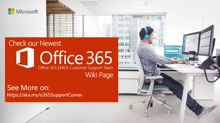 Support Corner Webcast: Cross Organization / Office 365 Availability