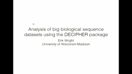 Analysis of big biological sequence datasets using the DECIPHER package