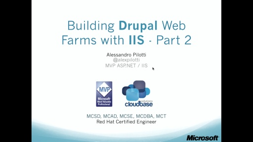 4. Building Drupal Web Farms with IIS – part 2