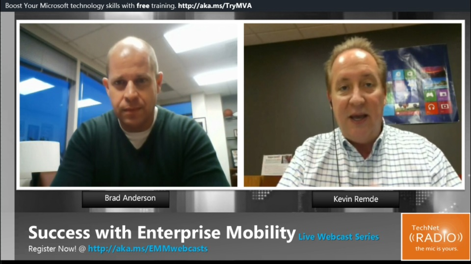 TechNet Radio: Success with Enterprise Mobility - Live Webcast Series Preview