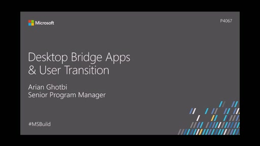 Desktop Bridge Apps & User Transition