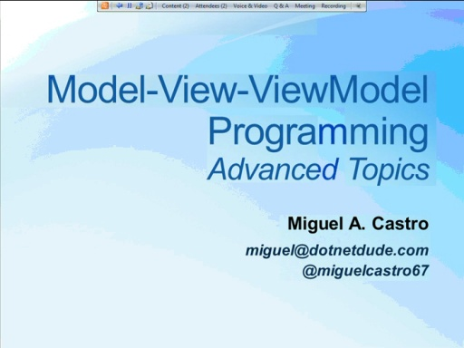 NYC DevReady: MVVM - Session 3 (of 5) - Programming with MVVM - Part 2