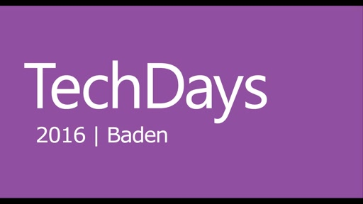 Microsoft Switzerland TechDays 2016 Baden Teaser