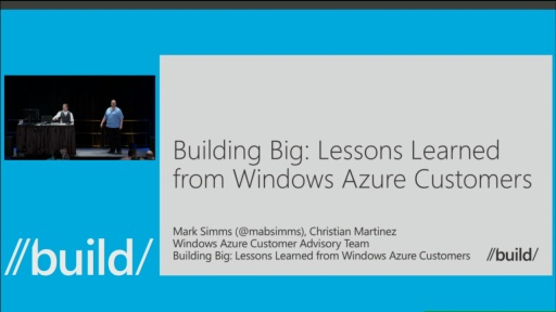 Building Big: Lessons Learned from Windows Azure Customers