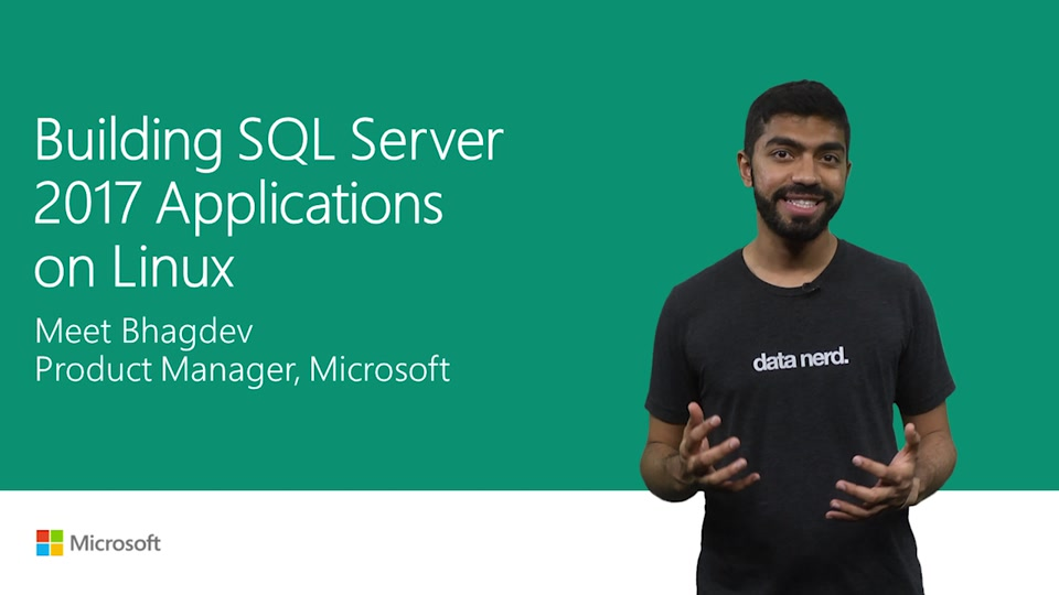 Build SQL Server 2017 applications on Linux