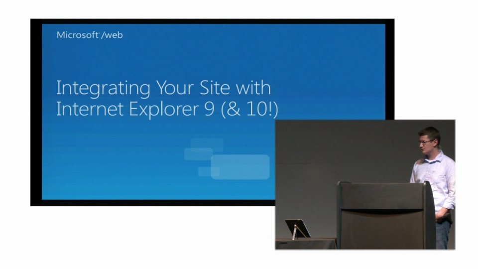 Integrating your sites with IE