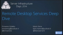 Remote Desktop Services Deep Dive - VT02