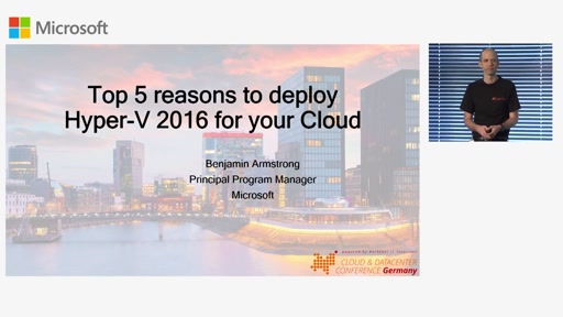 Top 5 reasons to deploy Hyper-V 2016 for your Cloud