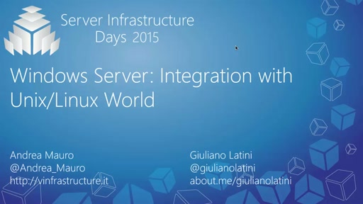 Windows Server: Integration with Unix/Linux World - WS05