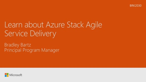 Learn about Azure Stack Agile Service Delivery
