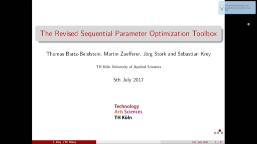The Revised Sequential Parameter Optimization Toolbox