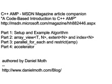 parallel_for_each - C++ AMP - msdn mag companion part 3