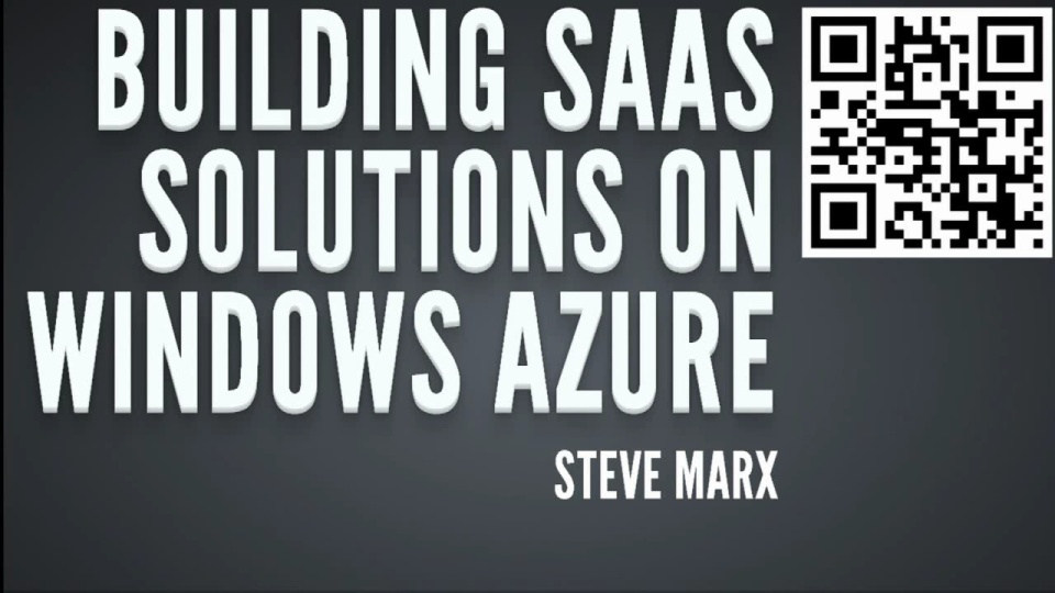 Building Software-as-a-Service Solutions on Windows Azure