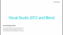 Building Windows Store Apps with Visual Studio and Blend