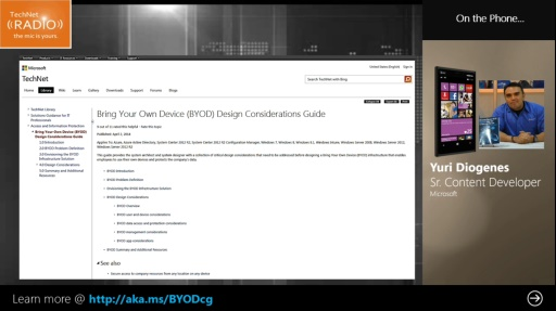 TechNet Radio: (Part 3) BYOD and Design Considerations