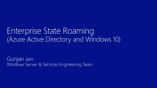 Enterprise State Roaming for Windows 10 with Azure Active Directory