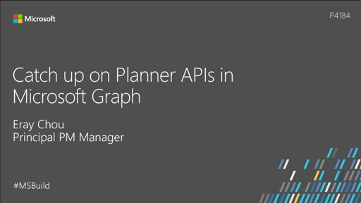 Catch up on Planner APIs in Microsoft Graph