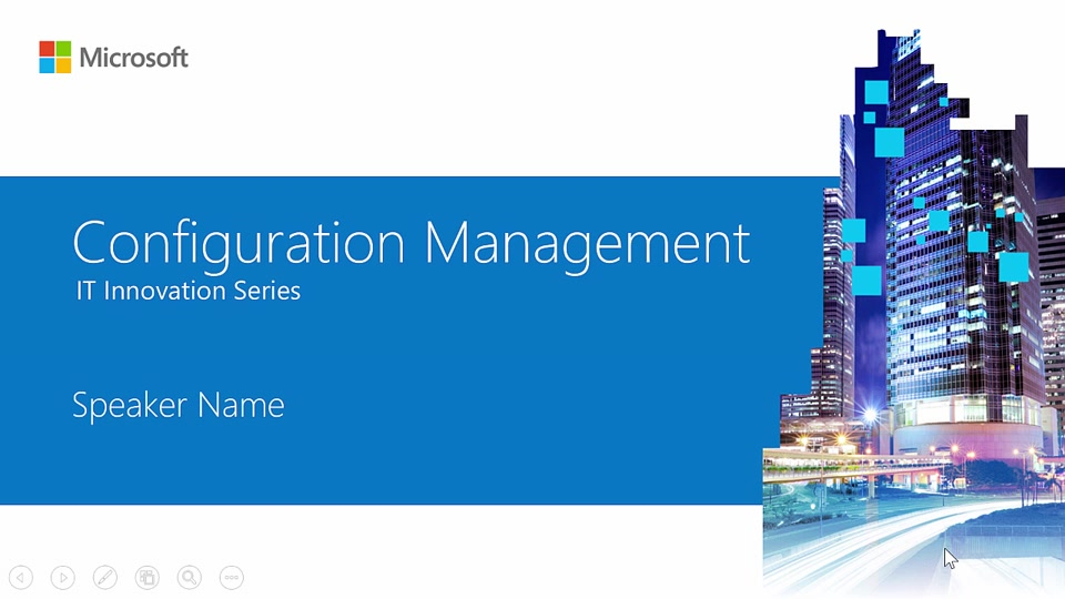 Configuration management innovation series training for for Innovation windows