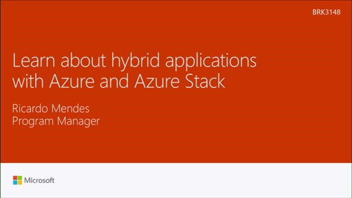 Learn about hybrid applications with Azure and Azure Stack