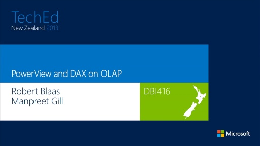PowerView and DAX on OLAP