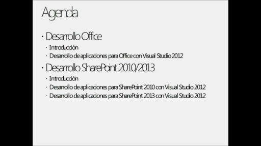 Webcast 2-Desarrollo con Office/Sharepoint