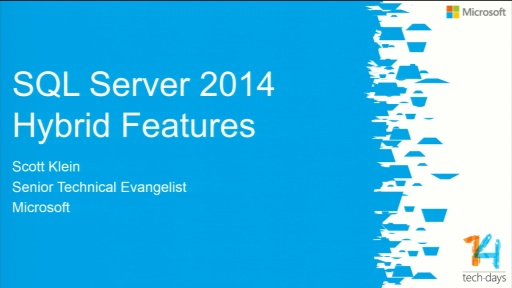 Top 5 SQL Server 2014 Hybrid Features