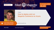 How to deploy and run Magento Commerce on Azure