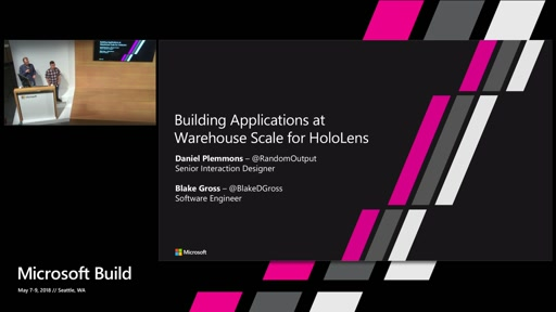 Building applications at warehouse scale for HoloLens