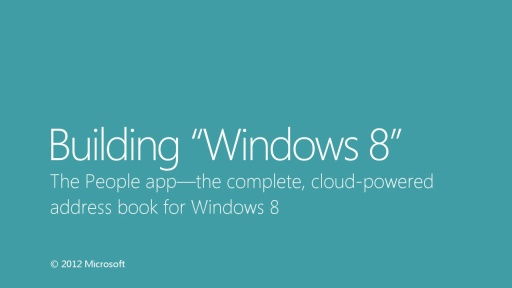 The People app—the complete, cloud-powered address book for Windows 8
