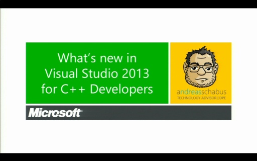 Katapult.10 – Visual Studio 2013 Launch - What's new in Visual Studio 2013 for C++ Developers