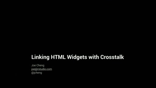 Linking htmlwidgets with crosstalk and mobservable
