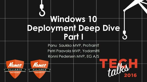 Tech Talks 2016 Citrix Stage Windows 10 käyttöönoton Deep Dive 1