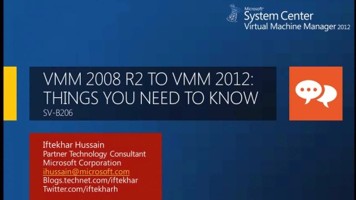 Virtual Machine Manager 2008 R2 to 2012: Things You Need to Know