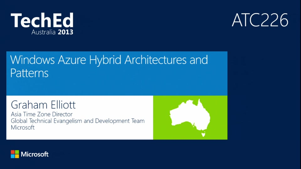 Windows Azure Hybrid Architectures and Patterns