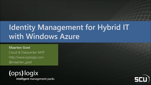 Identity Management for Hybrid IT with Windows Azure and Windows Server 2012 R2