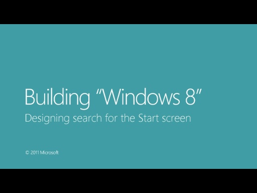 Designing search for the Start screen