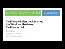 Certifying wireless devices using the Windows Hardware Certification Kit