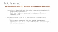 Windows Server 2012: NIC Teaming with Load Balancing