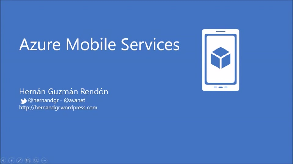 100devdays Mobile Services, Azure