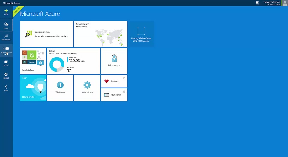 Creating a Windows VM on Microsoft Azure - Preview Portal