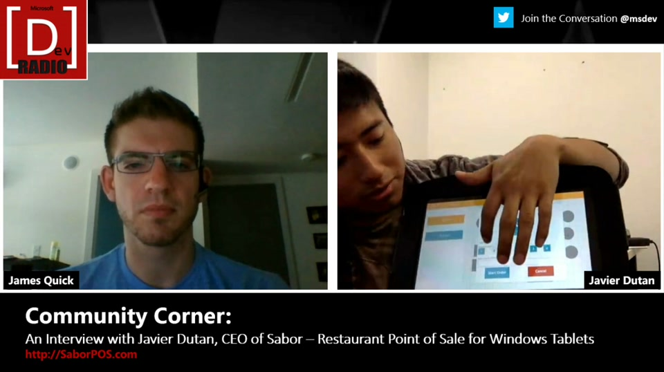 Community Corner: An Interview with Javier Dutan, CEO of Sabor - Restaurant Point of Sale for Windows Tablets