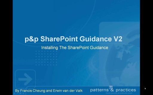 Setting up the Contoso RI - p & p Developing SharePoint Applications guidance