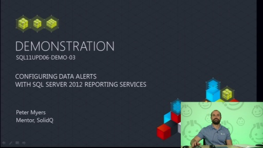 Demo: Configuring Data Alerts with SQL Server 2012 Reporting Services