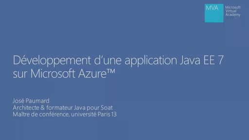Application Java EE 7 dans Microsoft Azure 01 - Introduction et configuration