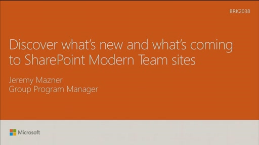 Discover what's new and what's coming to SharePoint Modern Team sites