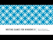 From XNA game to Windows 8